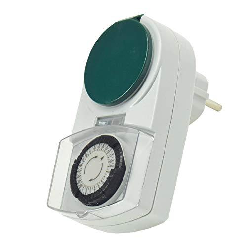 WITTKOWARE Steckdosen-Zeitschaltuhr für den Außenbereich, analog, 24h, IP44