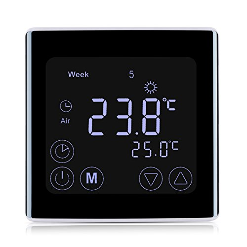 Floureon Raumthermostat Touchscreen Thermostat LCD Display Wandthermostat...