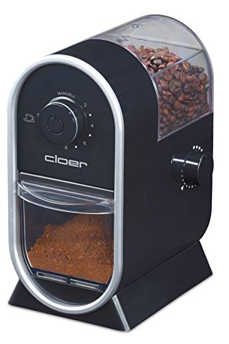 Cloer 7560 Elektrische Kaffeemühle mit Scheibenmahlwerk / 100 W / für 150 g...