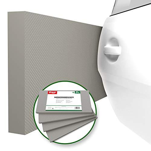 ATHLON TOOLS 4x MaxProtect Premium Garagen-Wandschutz selbstklebend | je 40 x 20...
