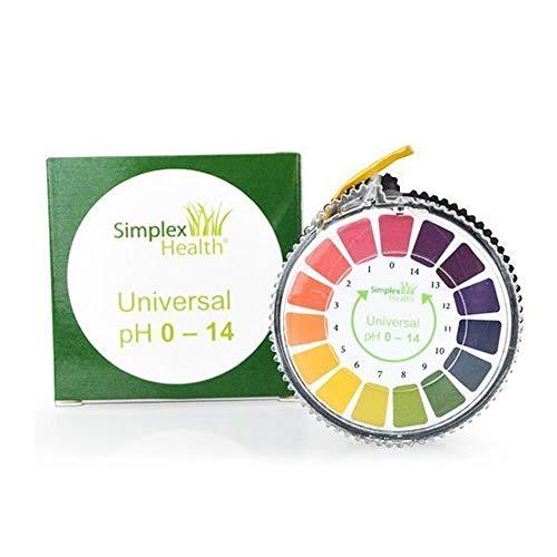 Simplex Health pH-Indikator Lackmus-Test Papier-Streifen Roll, 0-14 Für Wasser...