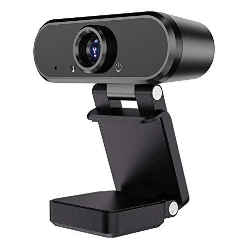 Ganquer 1080P Webcam mit Mikrofon, 90 Grad breiter Betrachtungswinkel, Plug &...