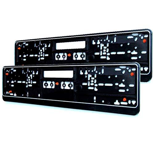 M&G Techno 2er-Set Kennzeichenschildhalter Nummernschildhalter schwarz mit...