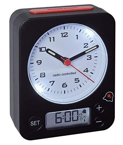 TFA Dostmann Combo Funkwecker, Uhrzeit Analog und Wecker Digital, Funkuhr mit...
