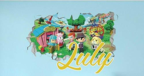 Wandtattoo Animal Crossing benutzerdefinierte Name Wandtattoo Spiel 3D Aufkleber...