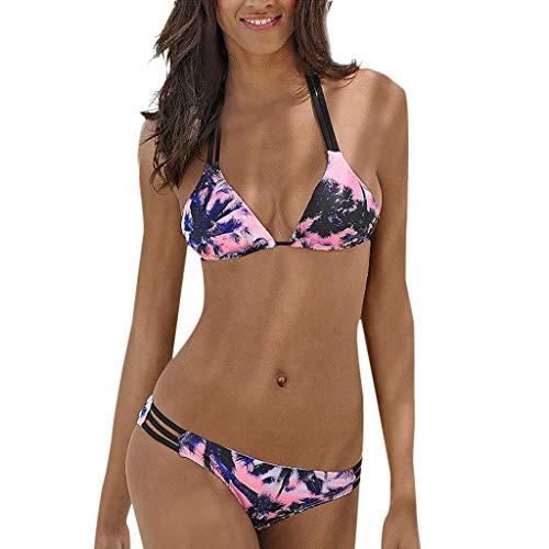 QingJiu 2020 Sommer Damenmode Neckholder Bikini Druck Badebekleidung Geteilter...
