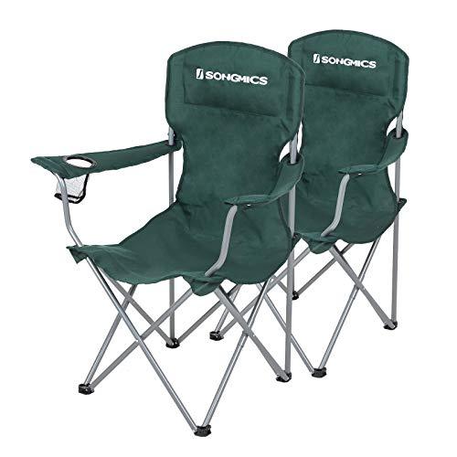 SONGMICS Campingstuhl, 2er-Set, klappbar, komfortabel, Klappstuhl mit robustem...