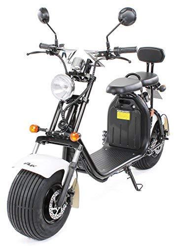 eFlux Chopper Two Elektroroller E-Scooter - Straßenzulassung - 45 km/h - 1500...