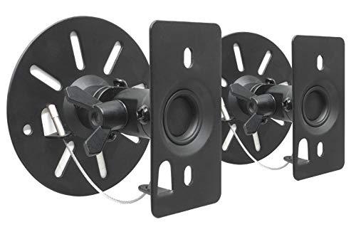 DRALL INSTRUMENTS 2 Stück Universal Wandhalterungen für Lautsprecher Boxen bis...