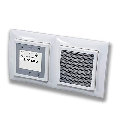 Berker Unterputz Radio (Einbauradio) Komplett-Set - 28848989 inkl. Lautsprecher...