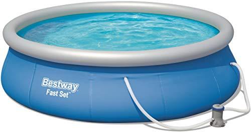 Bestway Fast Set Pool Set, mit Filterpumpe, blau, rund 396x84 cm