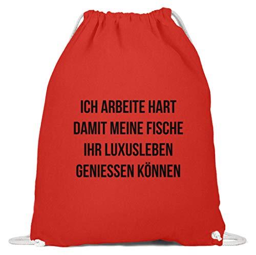 shirt-o-magic Zierfische: Ich arbeite für Fische - Baumwoll Gymsac...