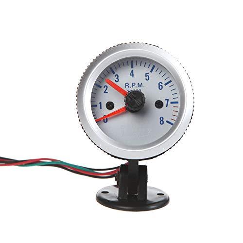 KKmoon 0-8000 RPM LED Auto Drehzahlmesser Geschwindigkeitsmesser 2' 52mm