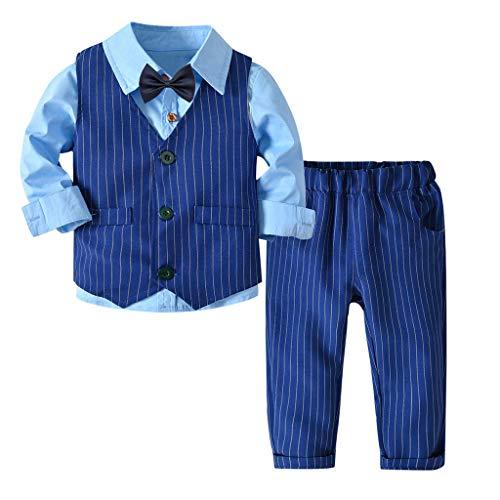 Riou-Baby Anzug Set Kinder Pullover Familie Pyjama Outfit Baby Jungen Gentleman...