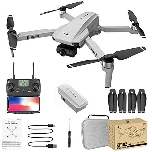 WEIZQ Faltbare Fotografie-Drohne mit tragbarer Tasche, KF102 5G WiFi GPS 4K HD...