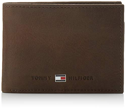 Tommy Hilfiger Herren JOHNSON MINI CC FLAP AND COIN POCKET Geldbörsen, Braun...