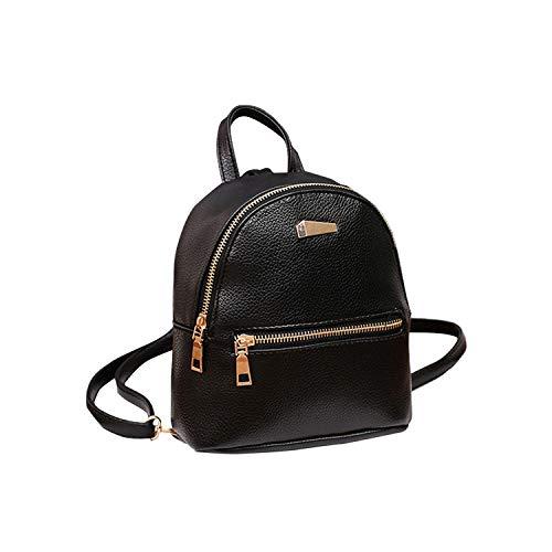 Himora basic-multipurpose-backpacks Damen Mini-Rucksack PU Leder College...