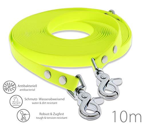 SNOOT Schleppleine 10m - Neon-Gelb - zugfeste, schmutz- und Wasserabweisende...