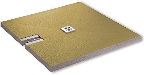 Aqualuxbad Duschboard Superflach 70mm inkl. Ablauf werkseitiger Abdichtung...