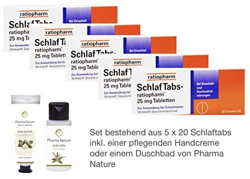 Schlaftabs ratiopharm Sparset - 5x20 Tabletten - inkl. einer pflegenden...