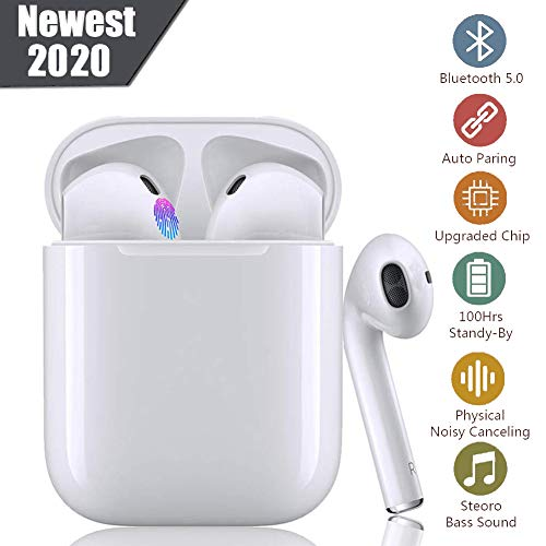 Bluetooth-Kopfhörer, Fingerabdruck berühren kabellose Kopfhörer,...