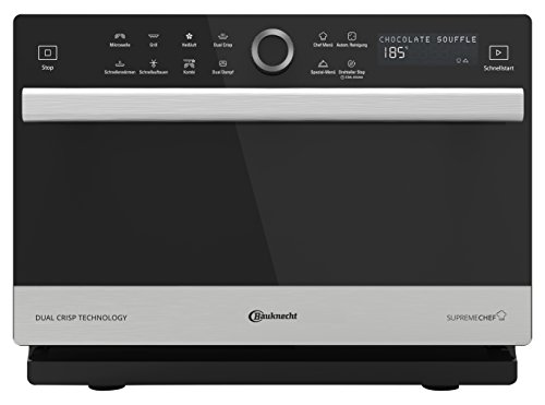 Bauknecht Supreme Chef MW 3391 SX 5in1-Multifunktionsmikrowelle /1000 W/33 L...