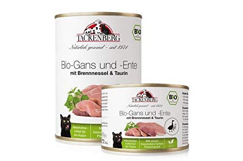 Tackenberg Katzenfutter, Nassfutter Katze, 100% Bio Gans und Ente mit Taurin,...