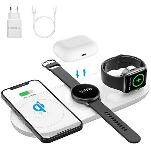 AMZLIFE Wireless Charger,5 in 1 Qi Induktive ladestation für Samsung Galaxy...