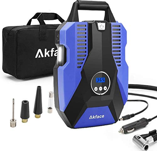 akface Auto Kompressor, 12V 150PSI Luftkompressor, 35L/min Schnelle Inflation...