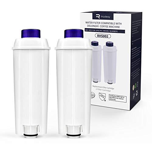 Rhodesy Wasserfilter für Delongie Kaffeemaschinen DLSC002, Delongie...