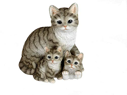 Formano Katzenfigur Katzenfamilie niedliche Deko Figuren Katzenkinder...