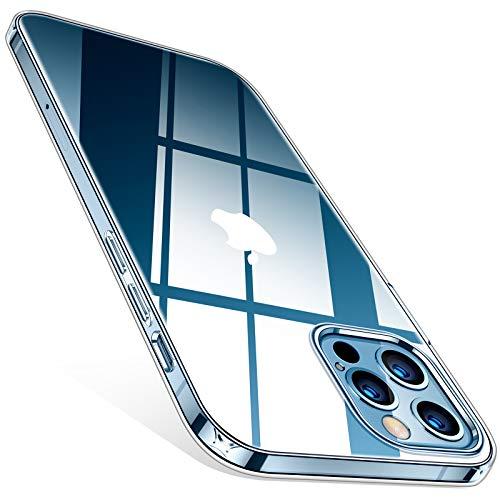 TORRAS Crystal Clear für iPhone 12 Hülle/iPhone 12 Pro Hülle Vergilbungsfrei...
