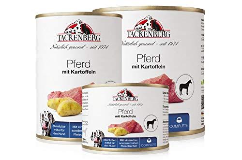 Tackenberg Hundefutter, Nassfutter für Hunde (Pferd + Kartoffeln),...