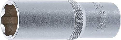 BGS 2949   Steckschlüssel-Einsatz Super Lock, tief   12,5 mm (1/2')   SW 19 mm...