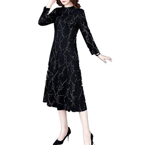 YNPM Damen Qualitätskleid für Herbst und Winter, Gr. L Gr. XX-Large, Schwarz