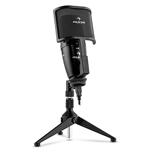 auna Studio-Pro USB Kondensator Mikrofon - Nierencharakteristik, Großmembran,...