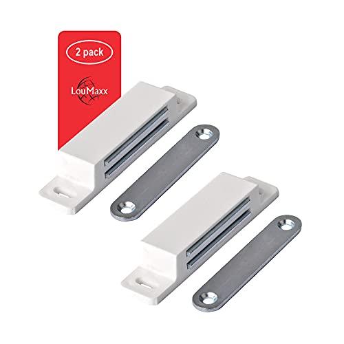 LouMaxx Magnetschnäpper extra stark - Haltekraft 13kg – 2er Set in weiß...