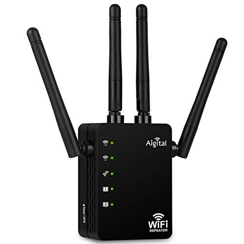 Aigital WLAN Repeater 1200Mbit/s WLAN Verstärker Dualband Signal Extender (5GHz...