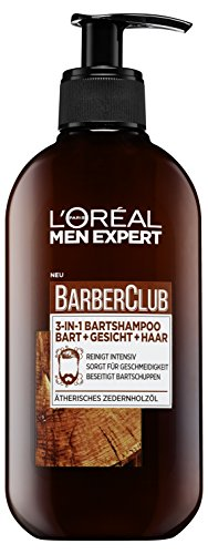 L'Oréal Men Expert Bartshampoo für Bart, Gesicht und Haar, Barber Club 3-in-1...