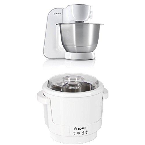 Bosch MUM54270DE Küchenmaschine (900 W, 3,9 l, edelstahlrührschüssel,...