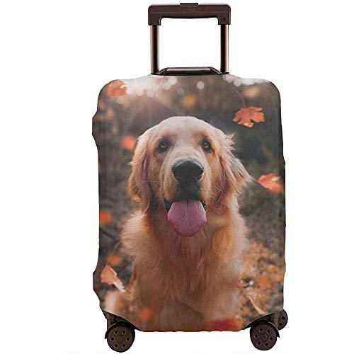Golden Retriever Dog Under The Leaves Kofferschutzfolie Anti-Scratch Brown...