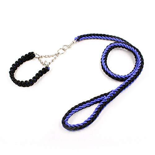 Mageelian Hundeleine mit drei Ringen, 8-reihig, für große Hunde, zweifarbige...