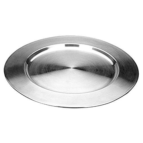 IBILI Servierplatte 32 cm aus Edelstahl, Silber, 32 x 32 x 5 cm