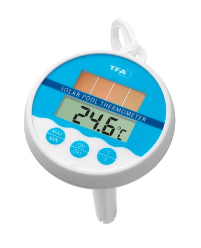TFA Dostmann Digitales Solar-Poolthermometer, 30.1041, solarbetrieben,...