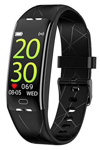 Fitness Armband Damen Herren Wasserdicht Fitness Tracker Pulsuhr Uhr mit...