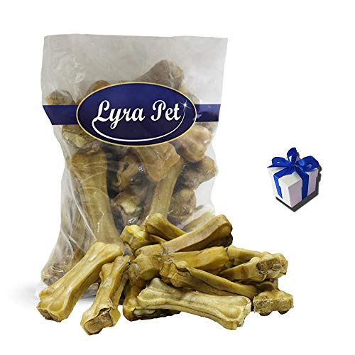 Lyra Pet 300 Kauknochen mit Ochsenziemerfüllung 10cm Kausnack Hunde + Geschenk