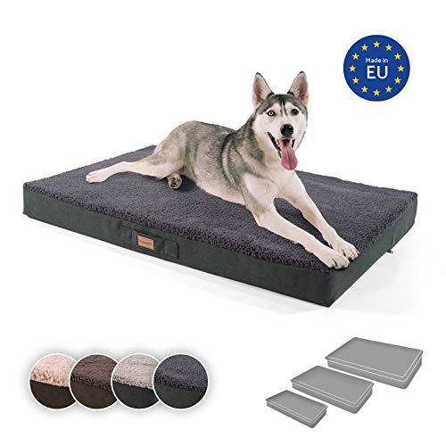 brunolie Balu extra großes Hundebett in Dunkelgrau, waschbar, orthopädisch und...