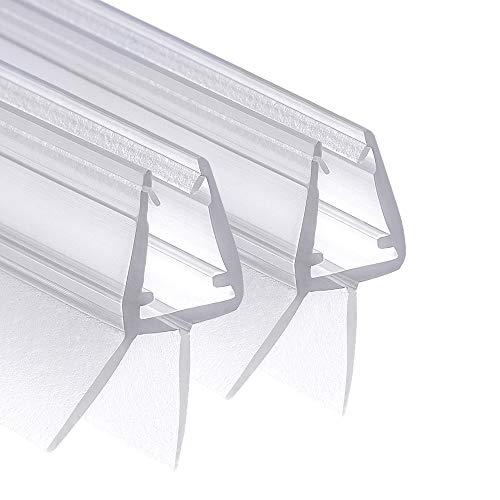 Wellba Premium Duschtür Dichtung (2x 80cm) für 6mm 7mm 8mm gerade Glastür...
