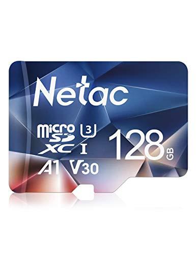 Netac Micro SD Karte 128 GB SDXC 100 MB/S EXFAT UHS-1 4K UHD FHD Klasse 10 V30...
