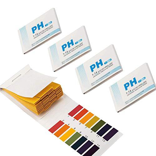 GeekerChip pH Teststreifen[400 Pcs]pH-Wert-Bereich 1-14 für Wasser Schönheit...